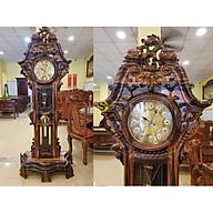Đồng hồ hoa lan tây gỗ mun lớn DH02HN thumbnail