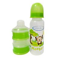 Combo bình sữa nhựa PP 250ml + hộp chia sữa 3 ngăn gluck baby thumbnail
