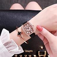 Nhấn chuột lên hình để phóng to Đồng hồ nữ DZG mặt bầu dây da cao cấp trẻ trung thời trang (có Video) thumbnail
