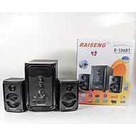 Loa vi tính Raiseng R-106BT - Âm thanh 2.1 chân thực sống động - Công suất cao, bass cực chắc - 2 loa vệ tinh 1 loa sub - Chỉnh vol, bass, treble ngay trên loa - Kết nối Bluetooth 4.0, AUX, USB, SD card - Hàng nhập khẩu thumbnail