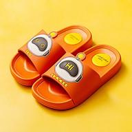 Dép Trẻ Em Cheerful Mario CM - 6031 Siêu Mềm Siêu Nhẹ Chống Trơn Trượt Cho Bé Trai Và Bé Gái - 5 Màu Đính Sticker Robot (Kèm Tất Babylovego B101) thumbnail
