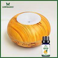 Combo máy khuếch tán máy xông tinh dầu Lorganic hình bánh Donut FX2059 + tinh dầu cam hương Lorganic (10ml). Phun sương sóng siêu âm. thumbnail