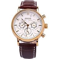 Đồng hồ cơ WMCE6033 (mặt trắng dây nâu) thumbnail