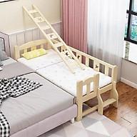 Giường gỗ, giường trẻ em quây 4 mặt có cầu thang size 128 60 40 chất liệu gỗ thông thumbnail