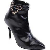 Giày bốt Mozy Cao gót cổ chữ V MZBB41 thumbnail