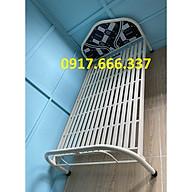 Giường sắt óng tròn 1m2x2m có nệm bọc cao cấp thumbnail