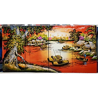 Tranh sơn mài vẽ - Phong Cảnh Quê Hương Thanh Bình thumbnail