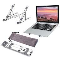 Portable Laptop Stand Foldable Aluminum Alloy Laptop Riser Ergonomic Desktop Computer Notebook Holder Stand Bracket with thumbnail