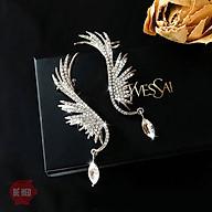 Bông tai kẹp vành có xỏ tai cánh thiên thần - Trang sức Bé Heo BHBT456 thumbnail