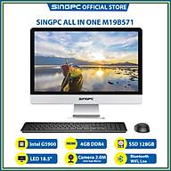 Máy tính All In One SingPC M19B571 (Intel G5900, 4GB DDR4, SSD 128GB, LAN, WiFi, Bluetooth, Loa, Camera 2.0M, 18.5 LED, Free DOS) - Hàng Chính Hãng thumbnail
