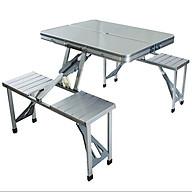 Bộ bàn ghế xếp dã ngoại khung nhôm thumbnail