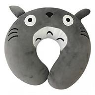 Gối Cổ Chữ U Aquaria Hình Mèo Totoro Xám Quà Tặng Siêu Mịn thumbnail