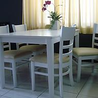 Bộ bàn ăn cabin 4 ghế (trắng) thumbnail