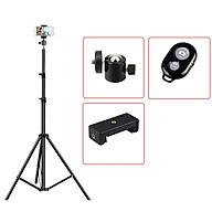 [TRIPOD] Cây Livestream Selfiecom - Hỗ trợ chụp ảnh, quay video, chơi tiktok, gắn đèn livestream - Tặng kèm remote bluetooth chụp ảnh- Hàng chính hãng thumbnail