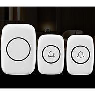 Chuông cửa đôi không dây chống nước A10 - màu ngẫu nhiên ( Tặng kèm 01 miếng thép đa năng ) thumbnail