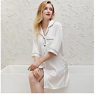 Đầm ngủ phi lụa dáng áo choàng ngủ tay lỡ ArcticHunter, thời trang thương hiệu chính hãng thumbnail