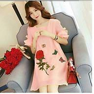 Đầm bầu váy bầu hoa hồng dn19082205 thumbnail