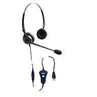 Tai nghe điện thoại viên DQN CS1332, dùng cho điện thoại viên, chuyên viên tư vấn bán hàng qua điện thoại, họp trực tuyến - Hàng chính hãng thumbnail