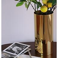 Bình cắm hoa inox mạ vàng sang trọng thumbnail