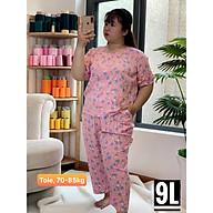 (70-85kg) Đồ bộ BIGSIZE mặc nhà nữ mặc ngủ nữ 70kg trở lên lửng chất tole lanh. hoa to - hoa nhỏ - hoa nhí - hoa cúc - hoa hồng- trơn thumbnail