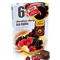 Hộp 6 nến thơm tinh dầu Tealight Admit Chocolate Cherry QT026085 - sôcôla, anh đào thumbnail