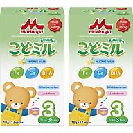 Combo 2 hộp Sữa Morinaga số 3 Hương vani (Kodomil) 216g thumbnail