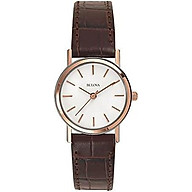 Bulova Women s 98V31 Stainless Steel Watch With Brown Leather Band thumbnail