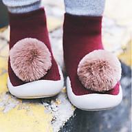 Giày Bún Cao Cổ Xinh Xắn Cho Bé Gái - Nơ Bông ( Đỏ ) thumbnail
