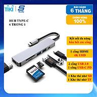 Hub chuyển đổi USB TypeC 6 trong 1 SEASY SS26, Cổng chuyển đổi HUB USB TypeC to HDMI, 1 cổng HDMI 4k UHD , 3 cổng USB 3.0, 2 khe đọc thẻ nhớ SD và TF, Kết nối nhiều thiết bị với tốc độ cao, Dùng cho Điện thoại Laptop PC Macbook Hàng chính hãng thumbnail