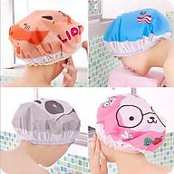 Bộ 3 nón trùm tóc khi tắm rửa mặt ủ dưỡng tóc tại nhà xinh xắn ( hình ngẫu nhiên) thumbnail