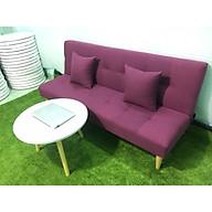 Bộ sofa bed, sofa giường bố tím BT 1m7x90 vs bàn tròn, ghế sofa phòng khách, salon, sopha, sa lông, sô pha thumbnail
