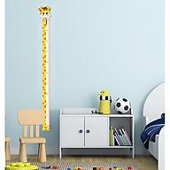 Thước đo chiều cao dán tường CAO CẤP chất liệu nhựa dẻo PP kèm bút và nút đính bút thumbnail