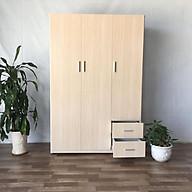 Tủ áo MRC 123 185 47 Cm (màu gỗ tự nhiên) thumbnail