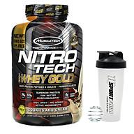 Combo Sữa tăng cơ giảm mỡ cao cấp Nitro Whey gold của Muscletech hộp 76 lần dùng cho người tập Gym & Bình lắc 600ml (Mẫu ngẫu nhiên) thumbnail