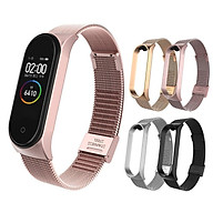 Stainless Wrist Belt Smartwatch Replacement For Xiaomi Mi Band 3 4 Waistband Metal Strap thumbnail