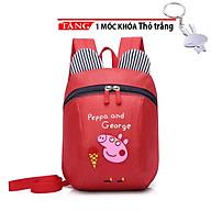 Balo cho bé Hình Gấu Kèm Dây Chống Đi Lạc heo peppa thời trang KH45 Tặng móc thỏ trắng thumbnail