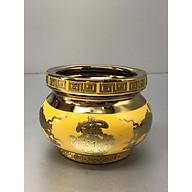 Bát nhang bằng sứ nhũ kimsa vàng (nhiều kích cỡ) thumbnail