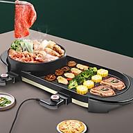 Bếp lẩu nướng điện không khói đa năng có thiết kế mặt đá chống dính thumbnail