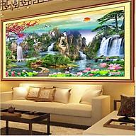 Tranh Treo Phòng Khách - Tranh Sơn Thủy Hữu Tình ST0003 thumbnail