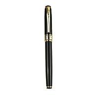 Bút ký viết gel vỏ hợp kim sơn màu đen điểm nhấn vàng Baoer 68 thumbnail