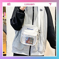 Túi tote vải vanvas đeo chéo trơn mềm đi học đẹp giá rẻ LUKAMO TX616 thumbnail