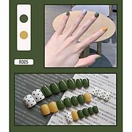 Bộ 24 móng tay giả (R005) tặng kèm thun lò xo cột tóc màu đen tiện lợi thumbnail