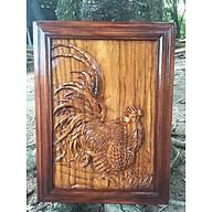 Tranh GÀ gỗ Gõ đỏ 34 x 45cm thumbnail