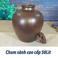 Chum Sành Ngâm Rươu Mẫu Trơn Gốm Sứ Bat Trang - 50L (có 2 nắp đậy) thumbnail
