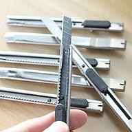 Dao rọc giấy inox DRG12 siêu bén làm từ hợp kim cao cấp, kích thước nhỏ giọt tinh tế, có nút khóa tự động dễ điều chỉnh thumbnail