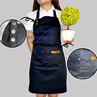 Combo Tạp dề nhựa PVC + Tạp dề bấm nút dành cho nam nữ phục vụ, đầu bếp thumbnail