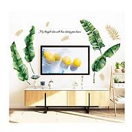 Tranh decal dán tường trang trí nhà cửa CÂY NHIỆT ĐỚI XANH MÁT thumbnail
