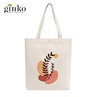 Túi Tote Vải Mộc GINKO Dây Kéo In Hình Minimalism Art M15 thumbnail