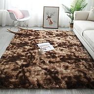 Thảm Lót Sàn Lông Vải Loang Nâu Đốm 1m6 2m thumbnail