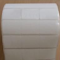 Giấy in mã vạch, decal 35x22 khổ 110mm cuộn 50m 3 tem 1 hàng cho máy in nhiệt thumbnail